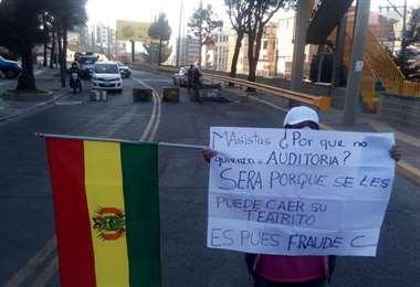 Los bloqueos en el ingreso a Obrajes I Rubén Quispe.