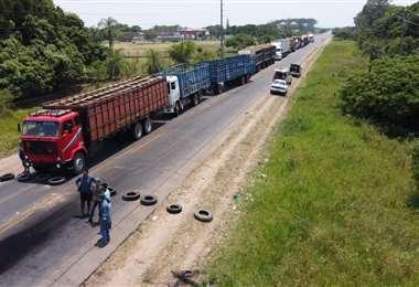 Los transportistas acataron la medida de presión/Foto: Fuad Landívar