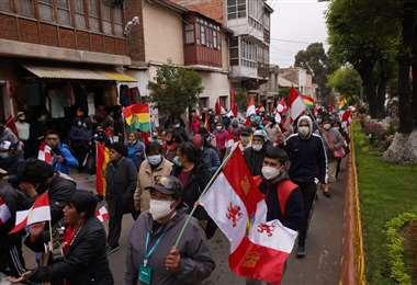 En Potosí hubo una movilización cívica. Foto: APG