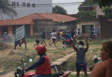 Enfrentamientos en el Plan 3.000. Foto: J. Ibáñez