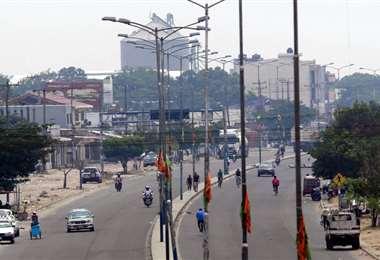 Intensa humareda en la ciudad. Foto: Ricardo Montero