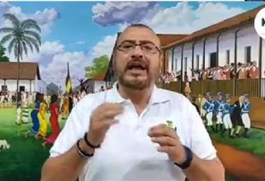 Rómulo Calvo, presidente del Comité Pro Santa Cruz.