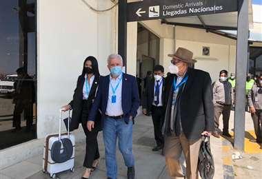Delegación de República Dominicana llega para la transmisión de mando/Foto: ABI