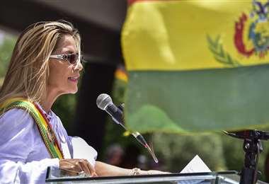 La presidenta Jeanine Áñez. APG Noticias