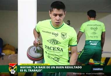 Diego Wayar, mediocampista de la selección. Foto: FBF