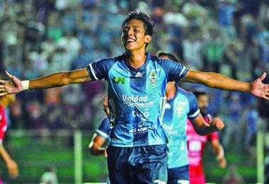 César Menacho, joven delantero de 21 años. Foto: internet