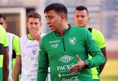 César Farías, DT de la selección boliviana. Foto: Prensa FBF