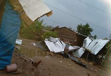 El viento desprendió los techos de calamina