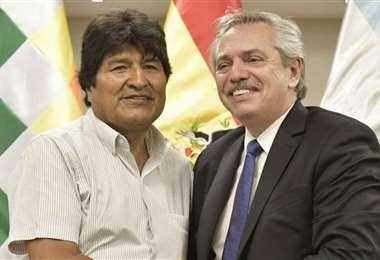 Evo Morales y Alberto Fernández protagonizarán un adiós