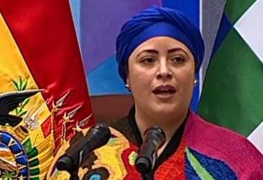 Marianela Prada Tejada, ministra de la Presidencia. Foto: ABI
