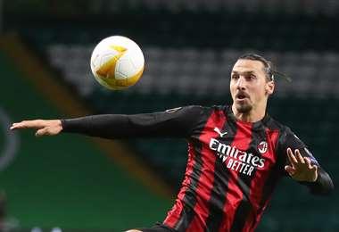 Ibrahimovic hizo este domingo el gol del empate para el Milan. Foto: AFP