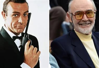 Sean Connery como James Bond y antes de su muerte. Foto Internet