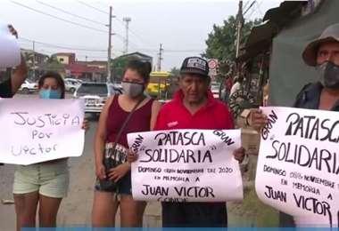 Familiares de la víctima piden justicia