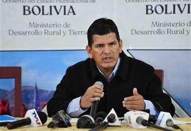 Wilson Cáceres dejó de ser ministro de Desarrollo Rural /ABI