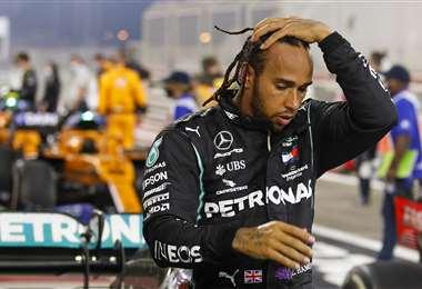 Hamilton podría perderse la carrera de Abu Dabi. Foto: AFP