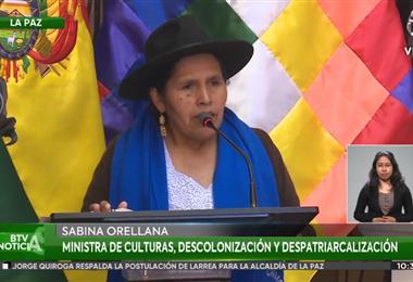 La ministra Sabina Orellana encabezó el acto en la sede de Gobierno