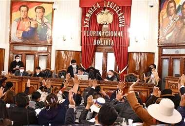 La cita en la Asamblea se extendió hasta la madrugada del 10 de diciembre. Foto: Opinión