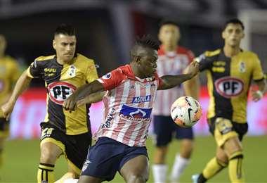 Junior eliminó el miércoles a Unión La Calera. Foto: AFP