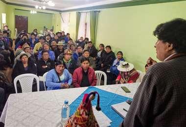 Morales en Potosí I Twitter.