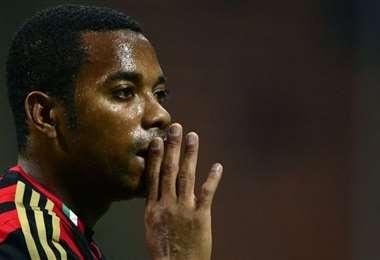 Robinho disputó 100 partidos con la 'Canarinha' anotando 28 goles. Foto: internet