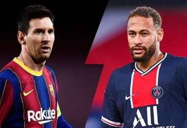 Messi y Neymar, figuras del Barcelona y el PSG, respectivamente. Foto: internet