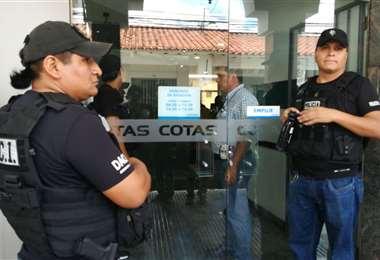 En 2019 la Policía allanó las instalaciones de la Cooperativa/Foto: EL DEBER