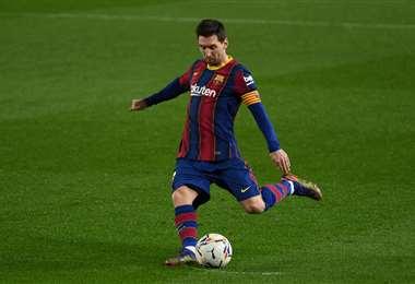 Lionel Messi, delantero argentino del Barcelona. Foto: AFP