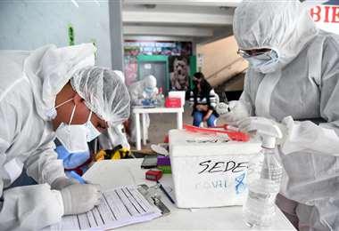 Solo Santa Cruz reporta cifras altas de contagio. Foto: ABI