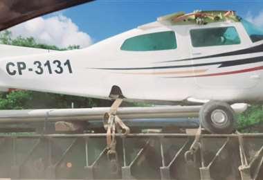 Avioneta será sometida a un microaspirado