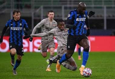 El belga Romelu Lukaku hizo el gol del triunfo del Inter. Foto: AFP