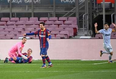 Lionel Messi celebra el gol/Foto: AFP