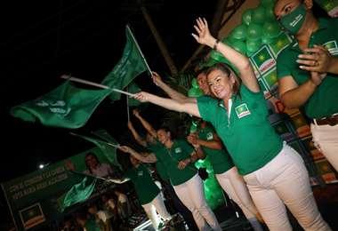 María Arias, candidata a la Alcaldía de Portachuelo