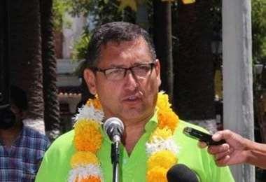 Óscar Montes, candidato a gobernador de Tarija