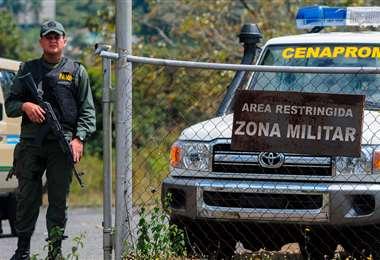 Cárcel militar de Ramo Verde en Los Teques, en las afueras de Caracas