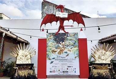 Este es uno de los espacios de la Feria del Libro de Santa Cruz Semipresencial