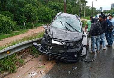 Accidente en el puente Urubó