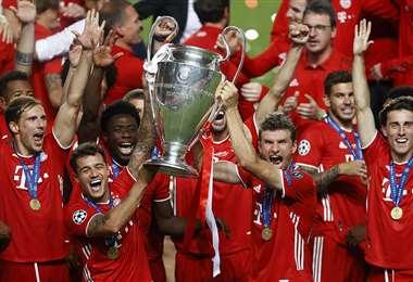 El festejo de los jugadores de Bayern Múnich. Foto: AFP