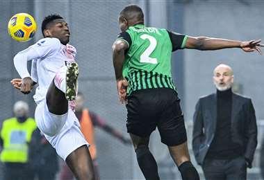 El Milan derrotó el domingo a Sassuolo por 2-1. Leao hizo el gol más rápido. Foto: AFP