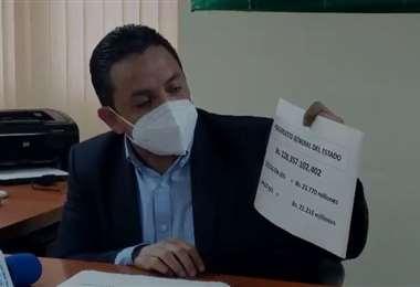 Senador Montero observa las cifras destinadas para salud