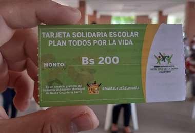 Tarjeta solidaria Escolar