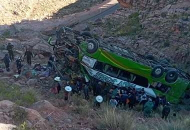 Accidente en la carretera a Sucre I redes.
