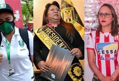 Soliz, Quispe y Montaño presiden sus clubes. Foto: Internet