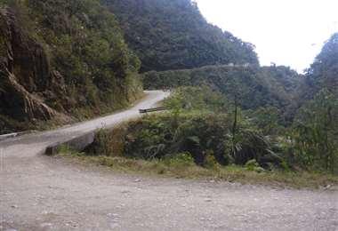 La carretera a Yungas I archivo.