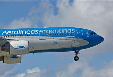 El Airbus 330-200 está modificado para el transporte de las vacunas