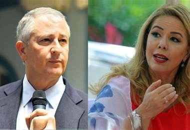 Marinkovic (izq.) da su respaldo a la actual alcaldesa interina, Sosa (izq)