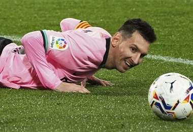 Messi anotó el tercer gol en la victoria del Barcelona de este martes. Foto: AFP
