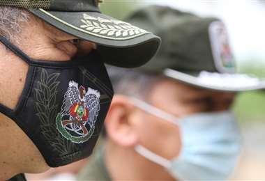 Policías, en primera línea en la lucha contra el coronavirus/Foto: Jorge Ibáñez