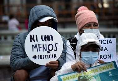 Protesta contra la violencia hacia la mujer en Guatemala/Foto: AFP