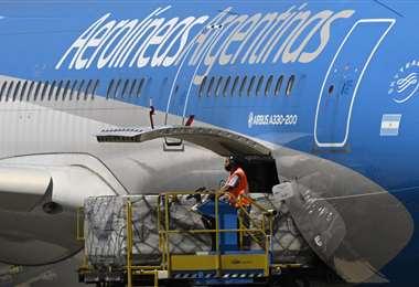 El cargamento llegó este jueves. Foto AFP