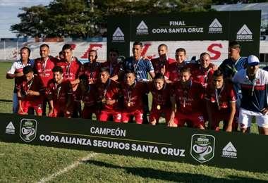 Guabirá celebrando el título. Foto: Copa Santa Cruz